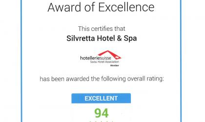 Trust You certificate for the Chalet Silvretta Hotel & Spa
